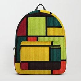 Mondrian Bauhaus Pattern #09 Backpack