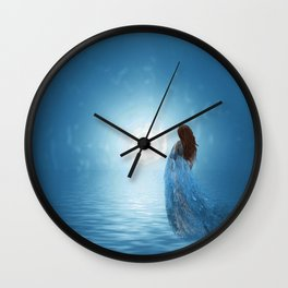 Walking in the light of freedom Wall Clock
