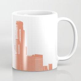 Orange Los Angeles skyline Coffee Mug