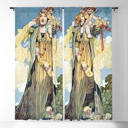 """""""Summer"""" by Charles Robinson Blackout Curtain"""