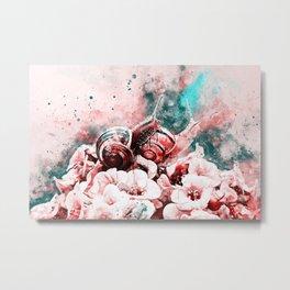 two snails make love ws2s Metal Print