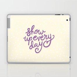 Show Up Every Day - Purple Polka Dots Laptop & iPad Skin