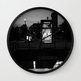 Brussels City by Night Wall Clock