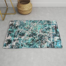 Triple X in Turquoise Rug