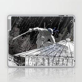 Black and White Ninja Turtle Leonardo Laptop & iPad Skin