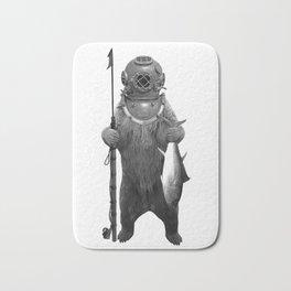 Harpoon Fishing Bear Bath Mat