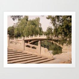 Bridges At Beijing's Summer Palace Art Print