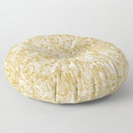 canadian animals gold white Floor Pillow