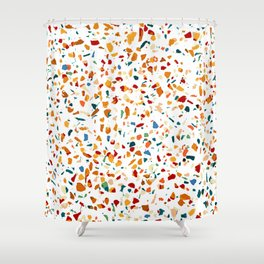 Tan Terrazzo #pattern #painting Shower Curtain
