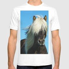 Wild Vision #societ6 #art #prints // Wildife Horse Photography MEDIUM Mens Fitted Tee White