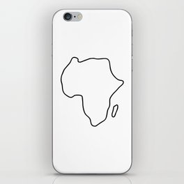 Africa African continent map iPhone Skin