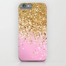 Gold Pink Glitter #1 (Faux Glitter) #shiny #decor #art #society6 iPhone Case