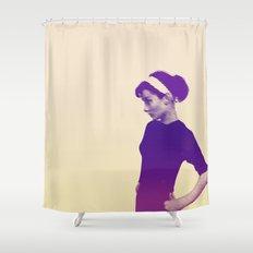 Audrey Hepburn Vintage Shower Curtain