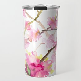 Cherry Blossom, Sakura, Japanese Floral art Travel Mug