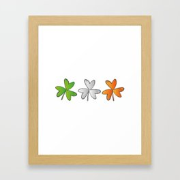 Shamrock Irish St Patricks Day Framed Art Print