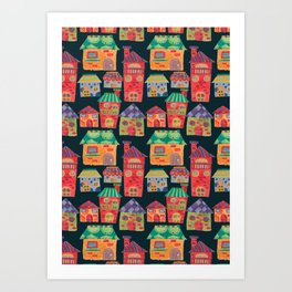 The Colorful Houses Art Print