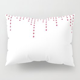 Watercolor print with red pendants Pillow Sham