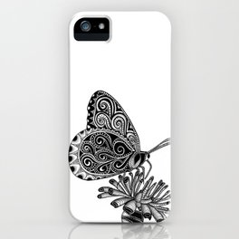 Tangled Butterfly on White iPhone Case