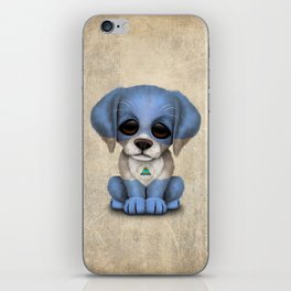 Cute Puppy Dog with flag of Nicaragua iPhone Skin
