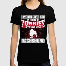 Save My Dachshund Halloween Funny Gift Shirt T-shirt
