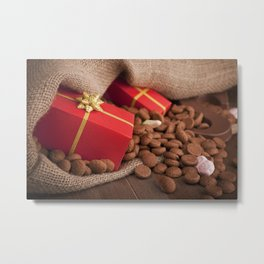 III - Bag with treats, for traditional Dutch holiday 'Sinterklaas' Metal Print