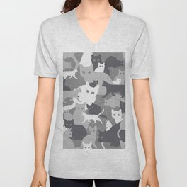 Gray camo with CATS Unisex V-Neck