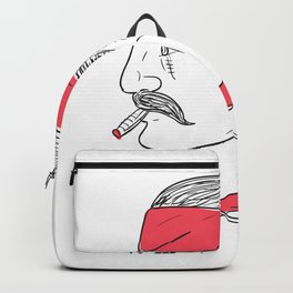 Mexican Guy Cigar Hot Chili Rose Drawing Backpack