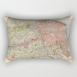 Map Of Buenos Aires 1912 Rectangular Pillow