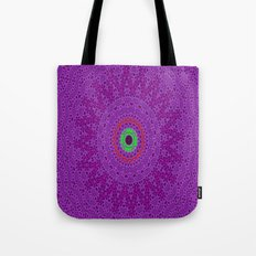 Lovely Healing Mandalas in Brilliant Colors: Purple, Pink, Red, Green and Brown Tote Bag