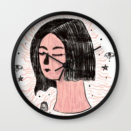 Meditating Wall Clock
