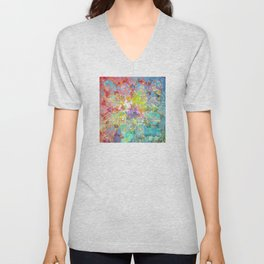 Flowers Dream Pattern Unisex V-Neck