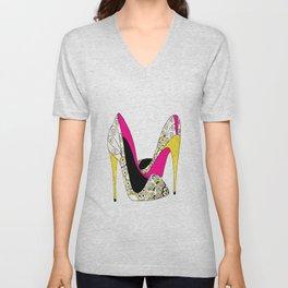 Fashion shoe art Unisex V-Neck
