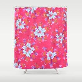 Pink Golden Autumn Shower Curtain