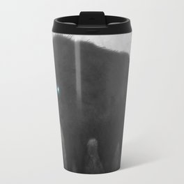 Black and White Wolf Moon Silhouette  Travel Mug