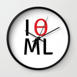 I love machine learning Wall Clock
