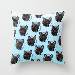 Frenchie Print Throw Pillow