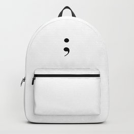 semi colon Backpack
