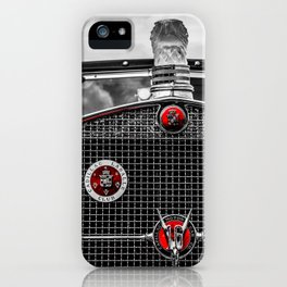 The Grill of a 1930 Cadillac Sedan Fleetwood, V16 iPhone Case