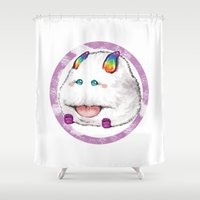 swag Shower Curtains featuring poro swag by kemiemo