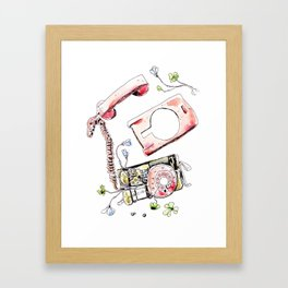 Flowerphone Framed Art Print