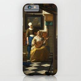 "Johannes Vermeer ""The love letter"" iPhone Case"