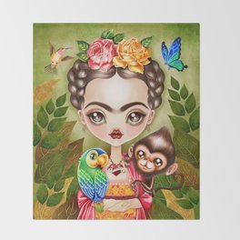 Frida Querida Throw Blanket