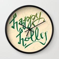 Happy Holly Wall Clock