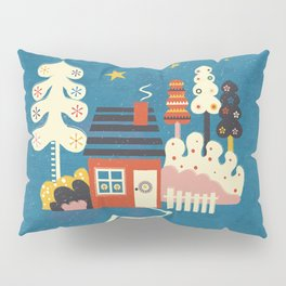 Festive Winter Hut Pillow Sham