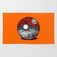 pokeball Area & Throw Rugs featuring PokeBall Catched All by Markusian
