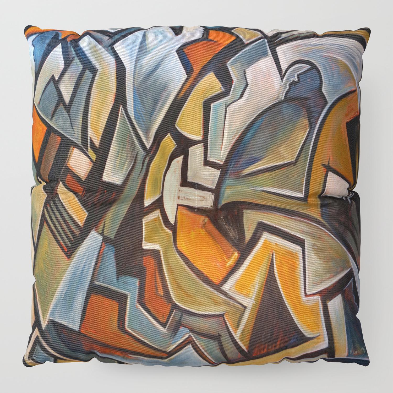 c4fef1343 La Duree de Vie Moyenne d'un Papillon Floor Pillow by valvescovi | Society6