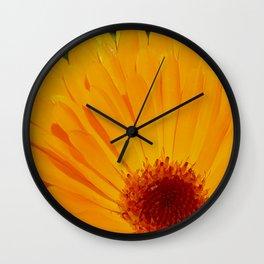 Orange Pot Marigold Wall Clock