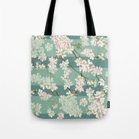 sakura Tote Bags featuring Sakura by Maria Durgarian