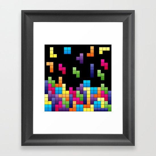 Tetris Troubles. Framed Art Print