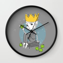 apple boy Wall Clock